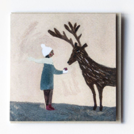 Gemma Koomen 'An Apple for Reindeer' greeting card