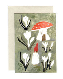 Gemma Koomen 'CROCUS GNOME' greeting card