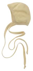 Engel Baby-bonnet natural wol en zijde mutsje