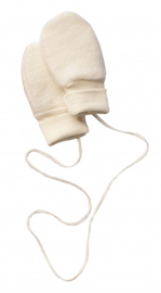Engel Baby-mittens without thumb wool fleece natural