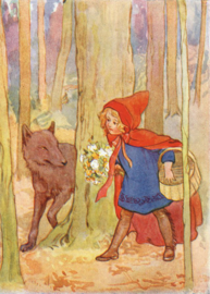 Margaret W. Tarrant kaart red riding Hood