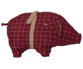 Maileg Pig, Medium Red