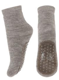 MP Denmark wool/cotton socks with anti-slip light brown melange