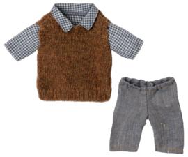 Maileg- shirt, slipover and pants for teddy dad