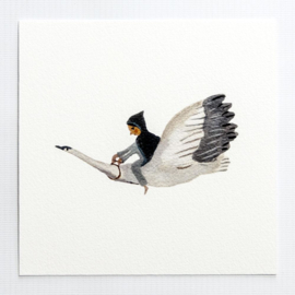 Gemma Koomen 'Goose Girl' greeting card