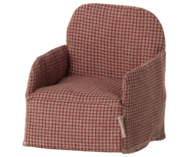 Maileg- chair mouse red