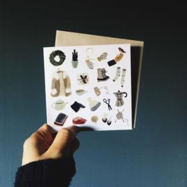 Gemma Koomen 'Little Winter Pleasures' greeting card