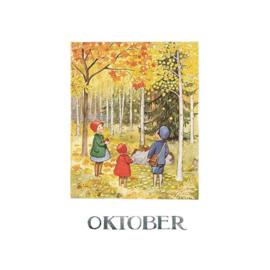 Elsa Beskow kaart Oktober