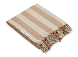 Liewood Mona beach towel - Y/D stripe: tuscany rose/sandy