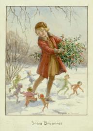 Margaret W. Tarrant kaart 'Snow Brownies'