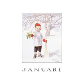 Elsa Beskow kaart Januari