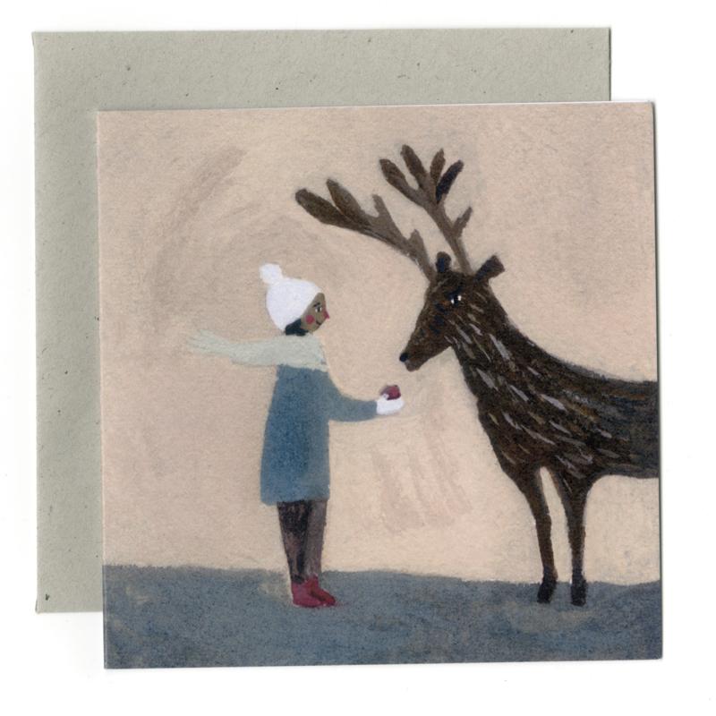 Gemma Koomen 'An Apple for Reindeer' 6x6 Print