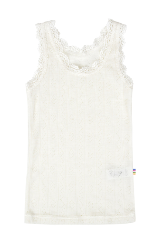 Joha wol zijde hemdje wit