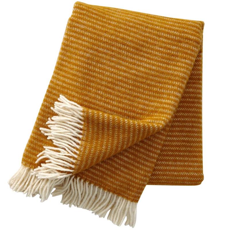 Klippan Ralph Woven Wool Throw Mustard