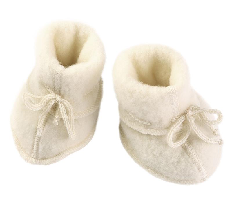Engel baby-bootees wool fleece natural