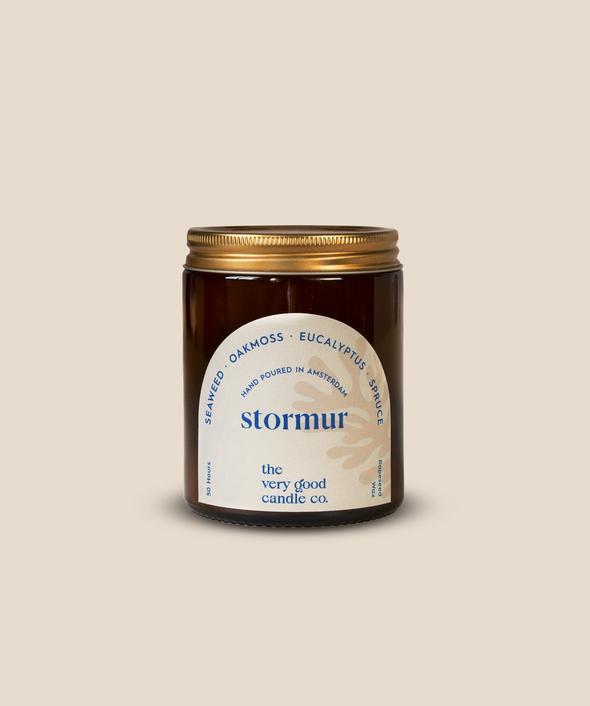 The Very Good Candle Amber Glass Jar 170ml - Stormur