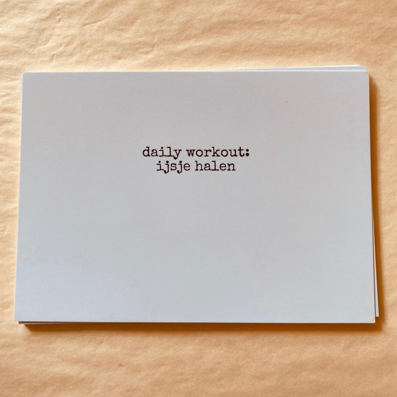 Kaart daily workout: ijsje halen