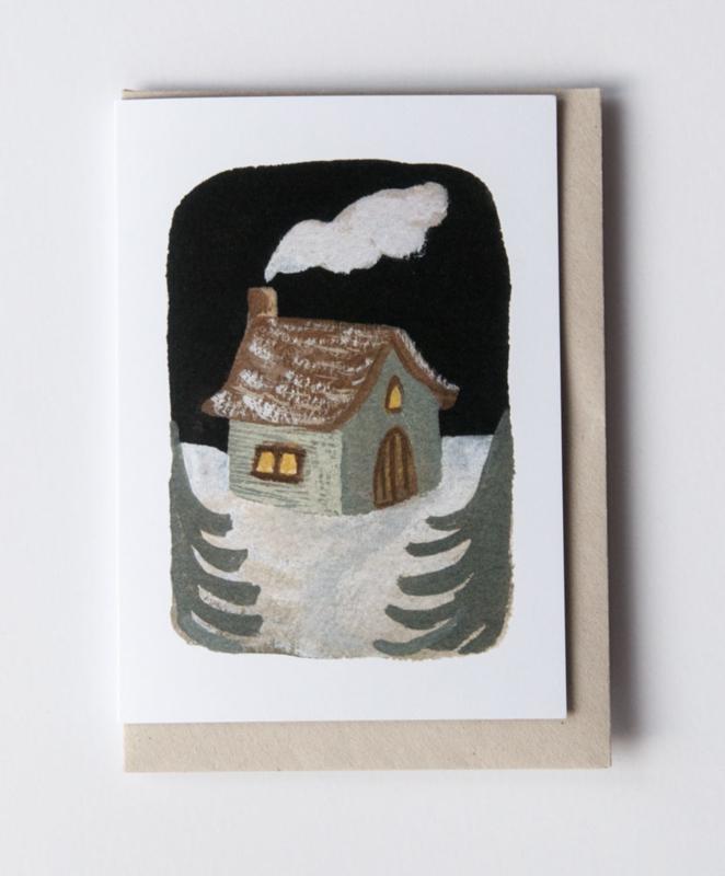 Gemma Koomen 'Winter House' 6x6 Print