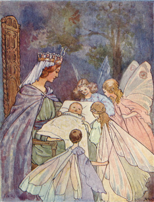 Margaret W. Tarrant kaart the sleeping beauty