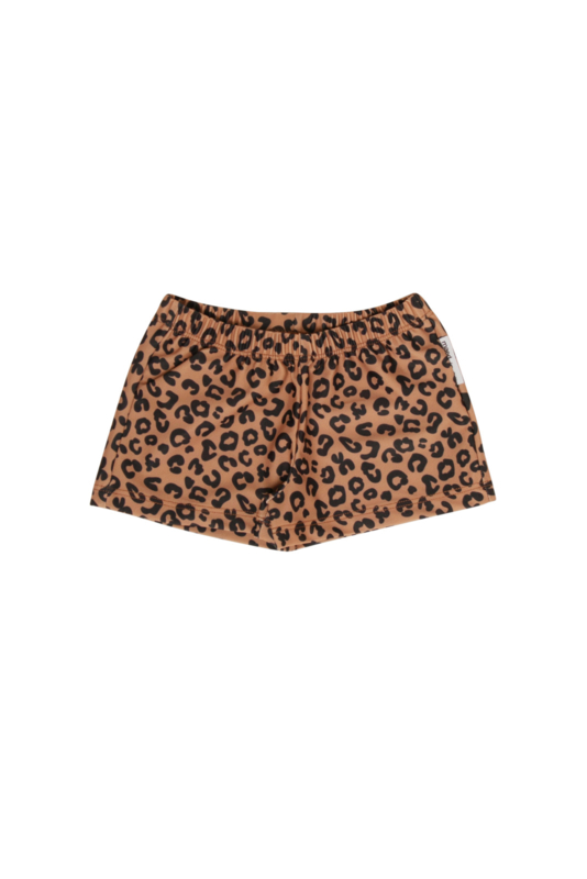 Maed for Mini swimshorts - brown leopard AOP