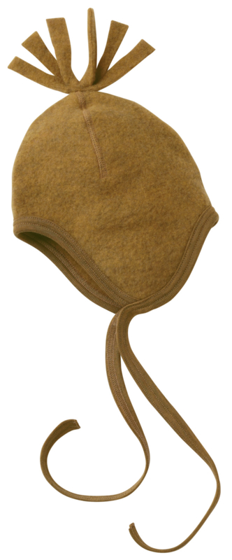 Engel baby hat wool fleece safran melange