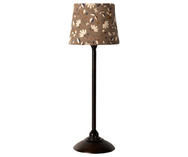Maileg Miniature floor lamp - Anthracite