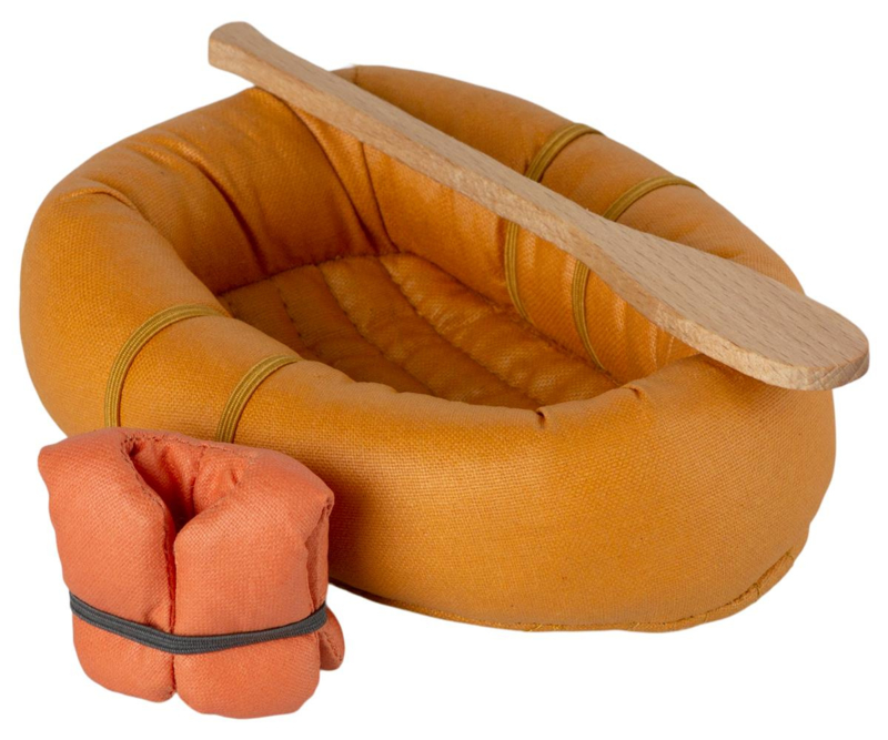 Maileg - Rubberboot muis - Dusty geel