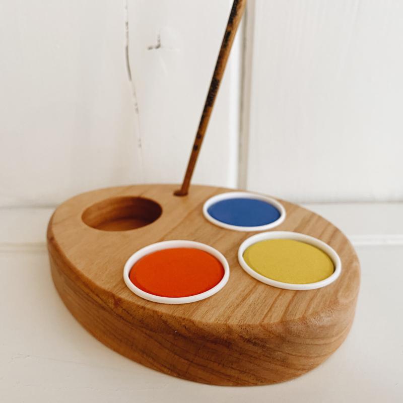 Paasei schildersetje hout