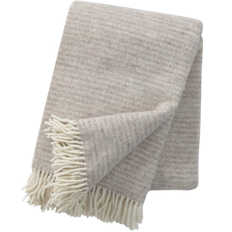 Klippan Ralph Woven Wool Throw Beige