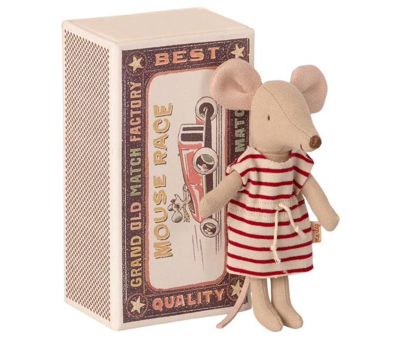 Maileg - Grote zus muis in luciferdoosje
