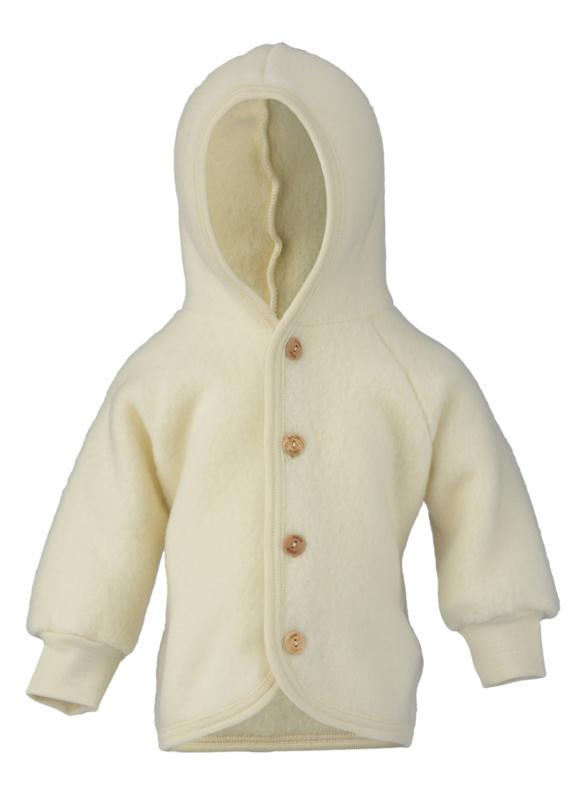 Engel wool fleece hooded jacket natural