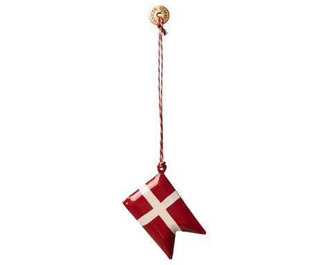 Maileg Ornament Danish flag, Metal