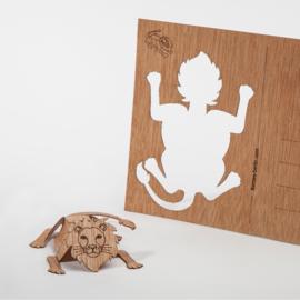 Leeuw 3D postkaart