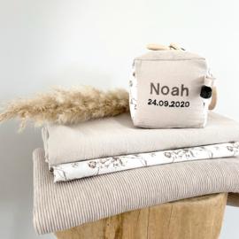 Mini Geboortekubus Cotton naturel