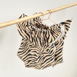 Poppen jumpsuit short zebra