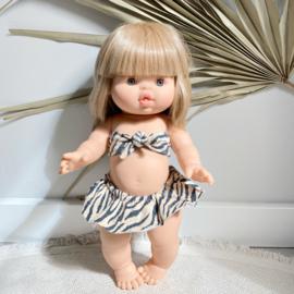 Poppen bikini zebra