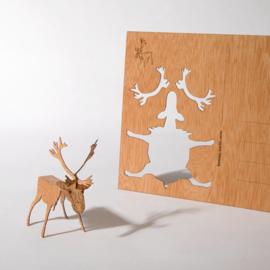 Rendier 3D Postkaart