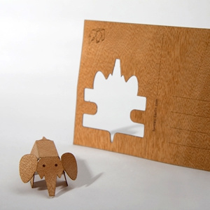 Olifant 3D postkaart