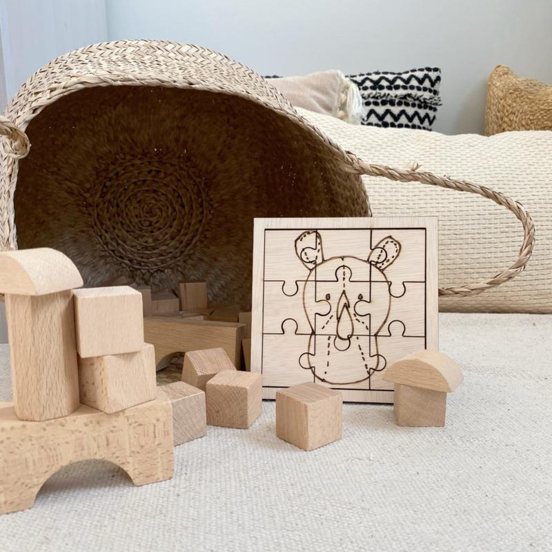 Houten Puzzel Neushoorn