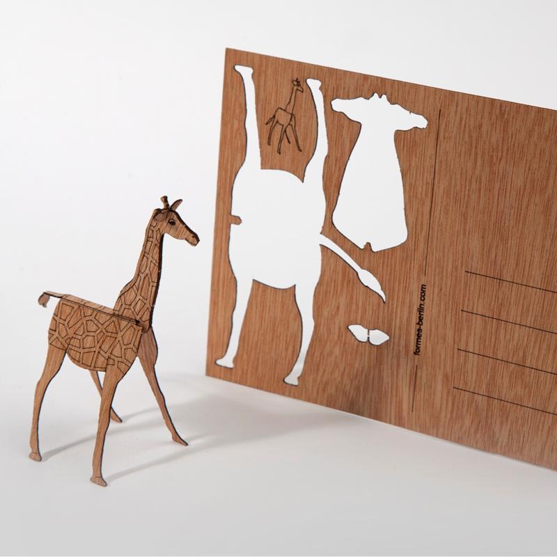 Giraf 3D postkaart