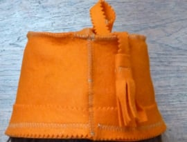 Orange saunahat model fez