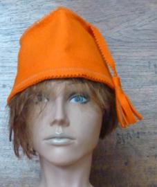 Orange saunahat model fez