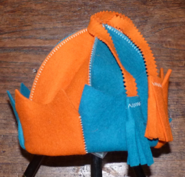 Saunahat Queen orange bleu