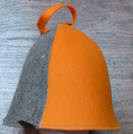 Saunahat 4 luik Oranje/Grijs