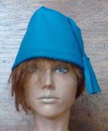 Bleu saunahat model fez