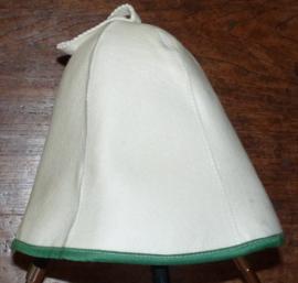 Saunahat Blanco met groene rand