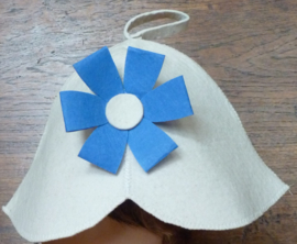 Saunahat flower blue