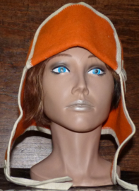 Saunahat Cap with ear flaps oranje