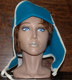 Saunahat Cap with ear flaps blauw