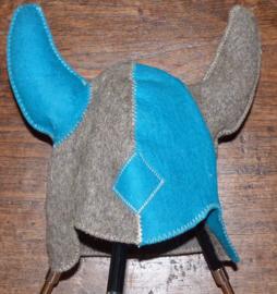 Saunahat Vikings grijs/blauw